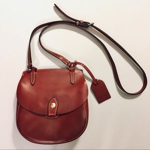 Dooney&Bourke Alto Happy red crossbody saddle bag